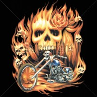 Firey Skull Chopper
