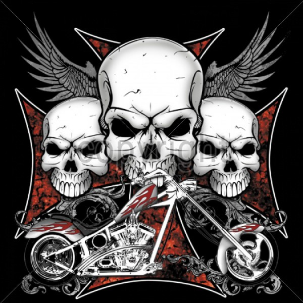3 Skull Chopper